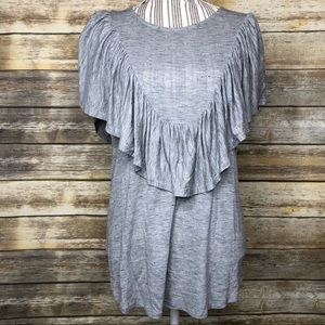 Anthropologie Dolan Left Coast Delan Ruffled Top
